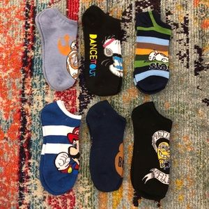 Other - Assorted Licenses Socks (6 pairs)